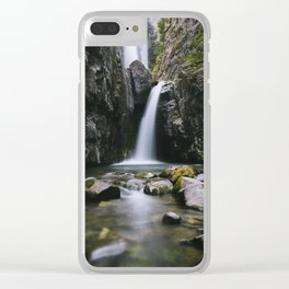 Colorado Waterfall Clear iPhone Case