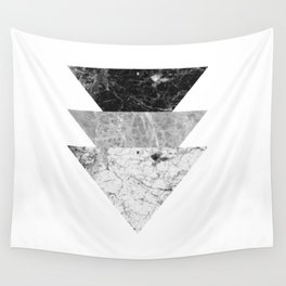 Night marble triangles Wall Tapestry
