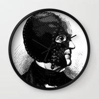 bdsm Wall Clocks featuring BDSM IX by DIVIDUS