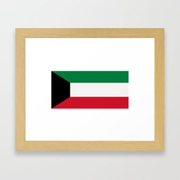 Kuwait flag Framed Art Print
