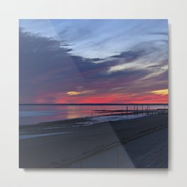 Magic Summer Sunset on the West Coast of DENMARK Metal Print