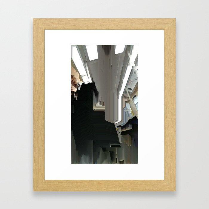 Face Left Framed Art Print