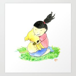 Bia and Little Bread Hugging Art Print