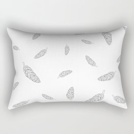 Flying Feathers Rectangular Pillow