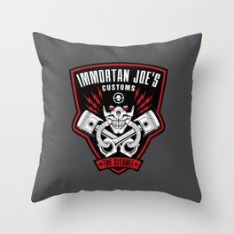 Immortan Joe's Customs Throw Pillow