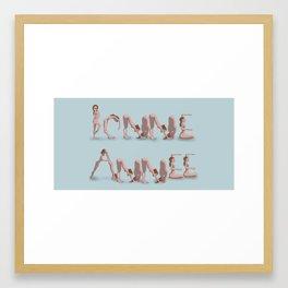 Bonne année Framed Art Print