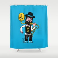 hip hop Shower Curtains featuring HIP HOP DOS by GEEFROG