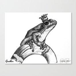 GUNTHER Frog Prince Print Canvas Print