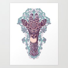 Giraffe (Color Version) Art Print
