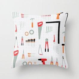 Tool Wall Throw Pillow