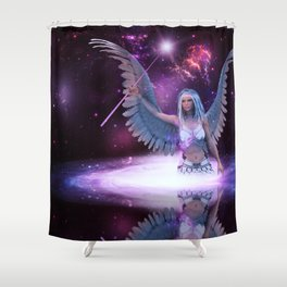 Space angel Shower Curtain