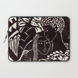 Black couple embracing, African American man and woman Laptop Sleeve