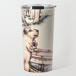 The Girl & The Beaver (or, Is It Alright if I Take Notes?) Travel Mug