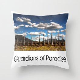 Guardians of Paradise Throw Pillow