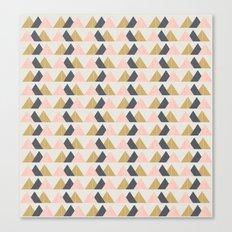 Gold + Black + Pink Mountains Canvas Print
