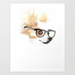 Chihuahua Hipster Art Print