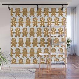 Gingerbread Cookies Pattern Wall Mural