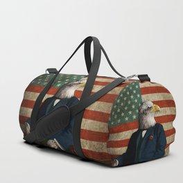 Official Portrait of Senator Silas Eagle Duffle Bag