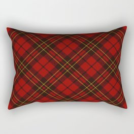 Adorable Red Christmas tartan Rectangular Pillow