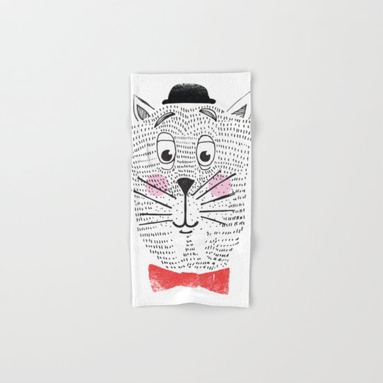 CAT IN A BOWTIE Hand & Bath Towel