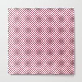 Rapture Rose and White Polka Dots Metal Print