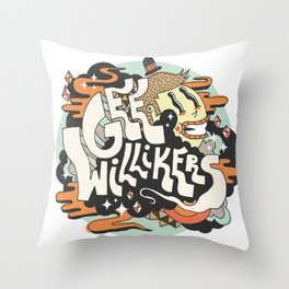 Gee Willikers! Throw Pillow