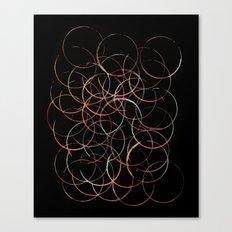 Burning Circles Canvas Print