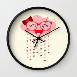 Pluie d'amour Wall Clock