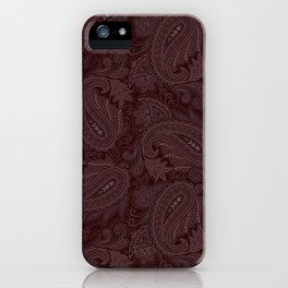 Meredith Paisley - Wine Red iPhone Case