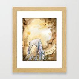 Unicorn Drinking Framed Art Print