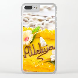 yellow decorative Easter cake Clear iPhone Case