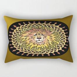 Lion Celtic Knot Mandala Rectangular Pillow