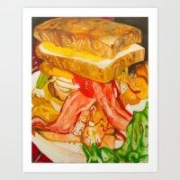 Double Vortex Burger Art Print