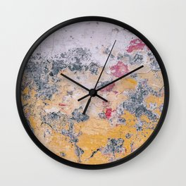 Abstract Rainbow Cement Wall Clock