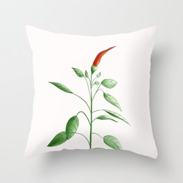 Little Hot Chili Pepper Plant Throw Pillow