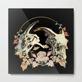 Skulls and Ivy Metal Print
