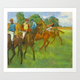 Before the Race - By Edgar Degas Art Print