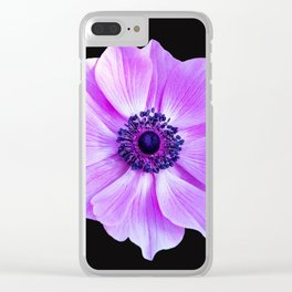 Purple Poppy Clear iPhone Case