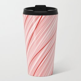 Peppermint Stripes Red and White - Digital Painting Travel Mug