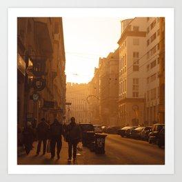 Budapest Winter Sun Art Print