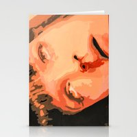 mia wallace Stationery Cards featuring Mia Wallace by yayanastasia