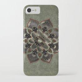 Wonderful noble mandala design iPhone Case