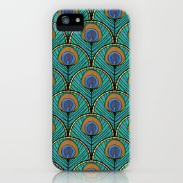 Glitzy Peacock Feathers iPhone Case