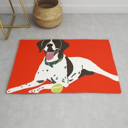 Pointer Dog Rug