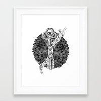 key Framed Art Prints featuring Key by cemakyol