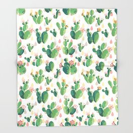 Cactus pattern Throw Blanket