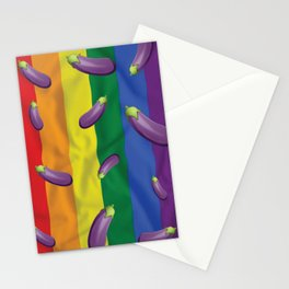Eggplant Time Stationery Cards