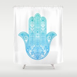 Hamsa Hand of Fatima Shower Curtain