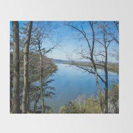 Through to the Susquehanna Throw Blanket