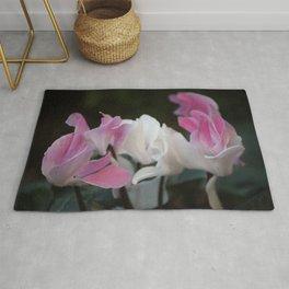 Pastel Persian Cyclamen Flowers Rug